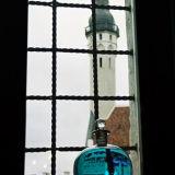 Tallinn town hall. In blue.