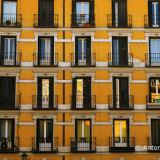 Windows. Yellow wall.