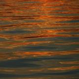 Sunset. Reflection.