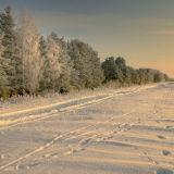 Winter twilight in Dubna