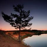 Medveditsa river. Sunset.