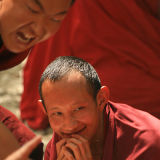 Monks in Sera monastery