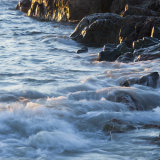Evening Light on Rock and Wave