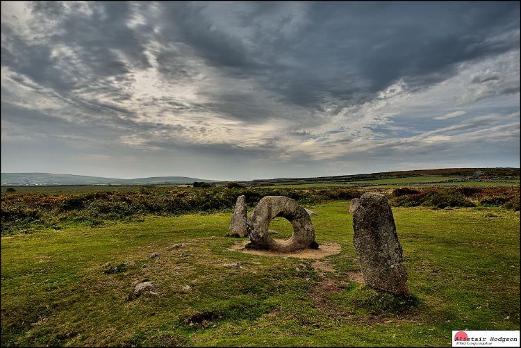 Men-an-Tol stones Nr Madron Cornwall