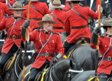 Smiles with the Mounties.