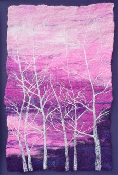Birch Trees and Sunset  £200