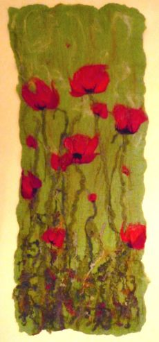 Wild Poppies 80cms x 36cms £80  SOLD