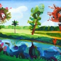 Squint Tree   25 x 24.94cm, Giclee Print £70