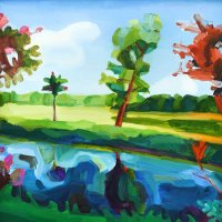 Squint Tree 34.94 x 35cm, Giclee Print £90