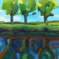 Three Trees 42.82 x 35, Giclee Print £90