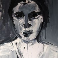 portrait, 2013, 40x50x1.6cm, mixed media on canvas