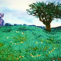 Ballykeel tree and dolmen