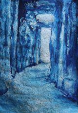 Blue Newgrange passage