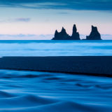 Sea stacks from Vik beach, Iceland