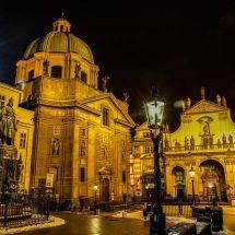 Night scene in Prague