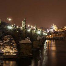 Prague at night is magical