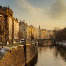 Winter sun Prague