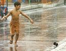 Boy in rain