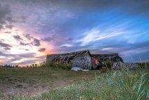 Fishermens shelters at Lindisfarne