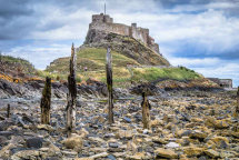 Lindisfarne Castle and shoreline