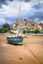 Boat on the sands at Alnwick