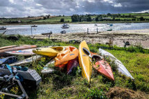 Canoe pile at Alnwick