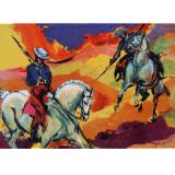 Vaqueros en las montanas
