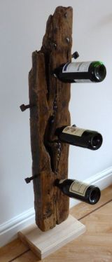 Upcycled driftwood (3 bottle) floorstanding wine rack