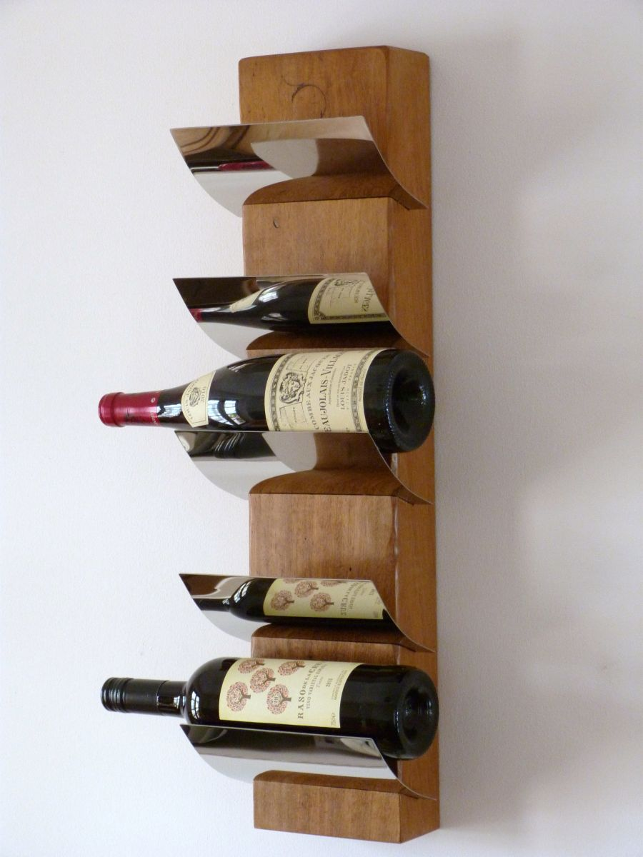 "Upcycled/Recycled ""Wooden wine racks""."