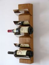 Upcycled wall mounted (5 bottle) wine rack
