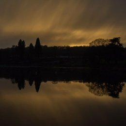 The sun going down on 2014 at Trentham Gardens