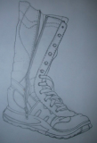 boot line drawing